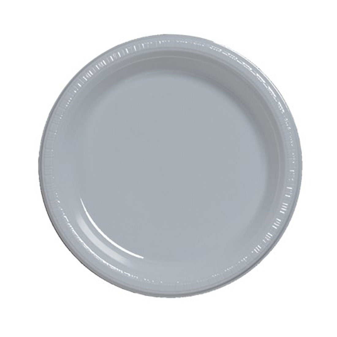 7 inch Plastic Luncheon Plate Shimmering Silver