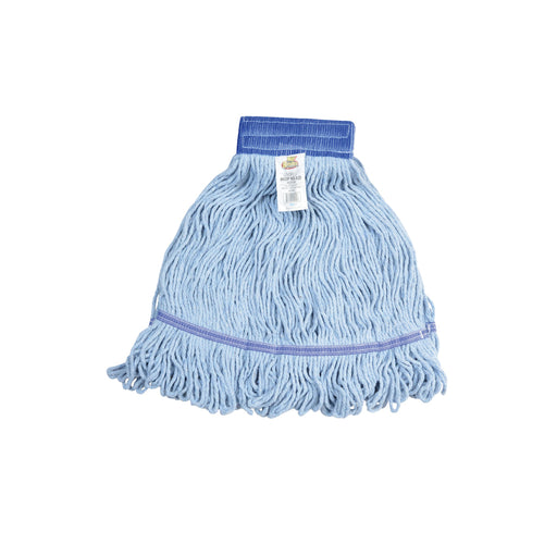 Janico 3041 Medium Blue Blended Cotton/Yarn Looped End Mop Head