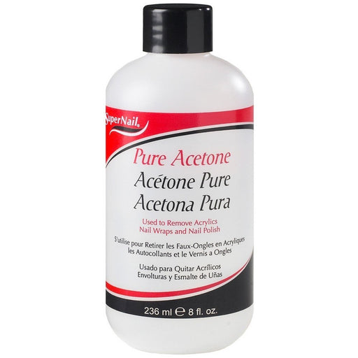 Super Nail Pure Acetone Polish Remover 8 Oz