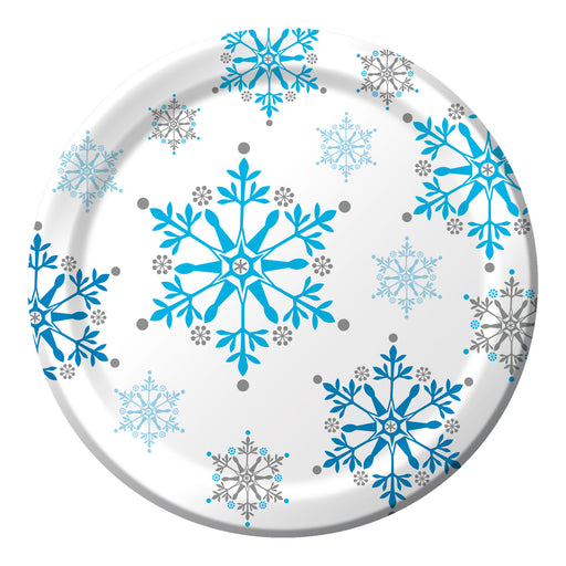 Snowflake Swirls 7 Inch Lunch Plates