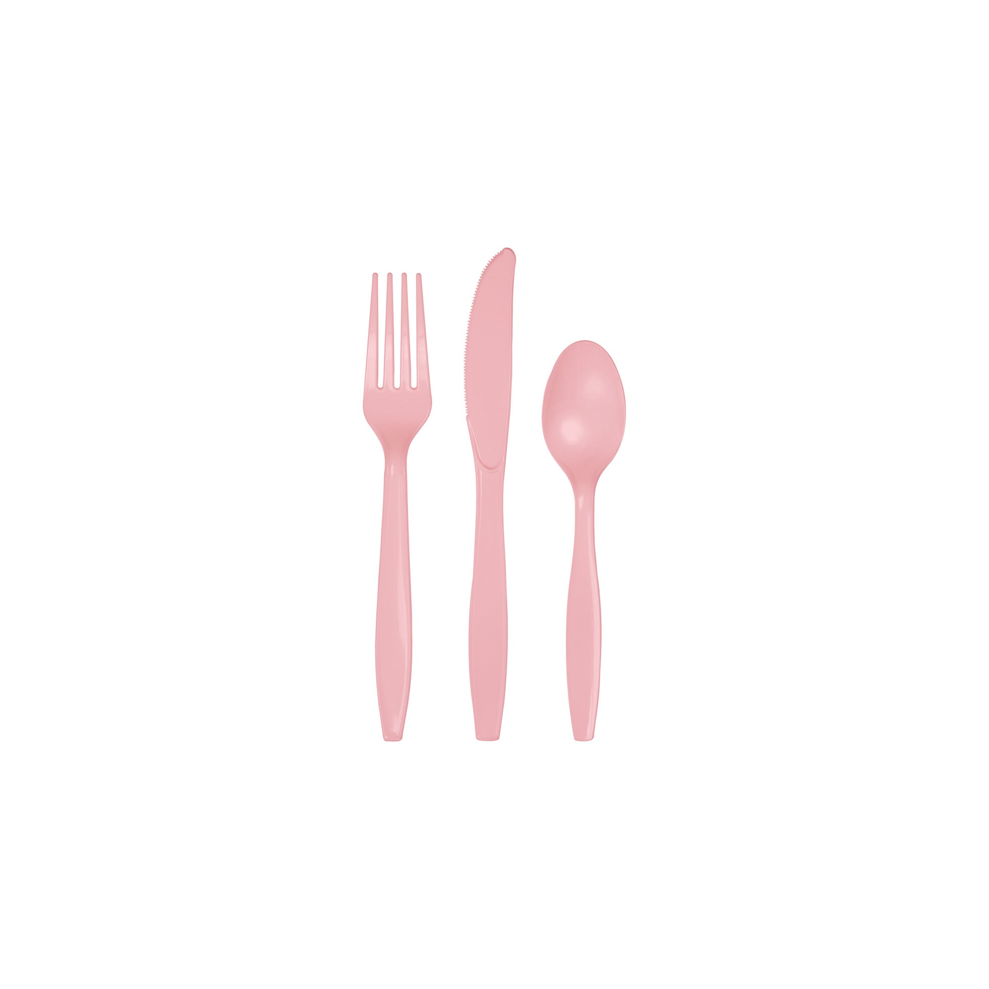 Classic Pink Plastic Cutlery Assortment