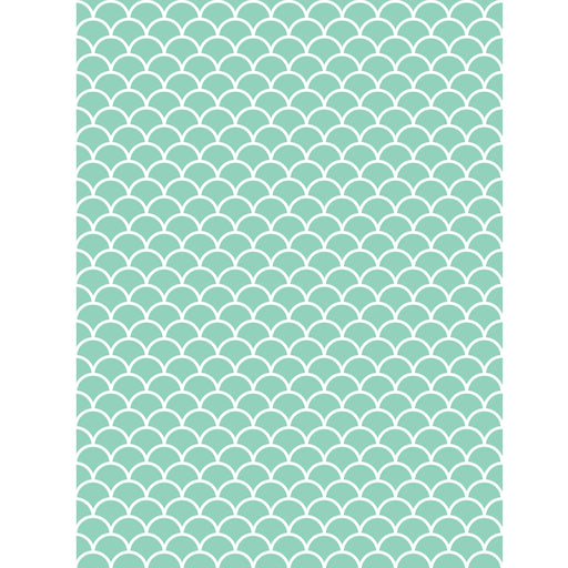 Mint Scallop Photo Backdrop/Case of 6