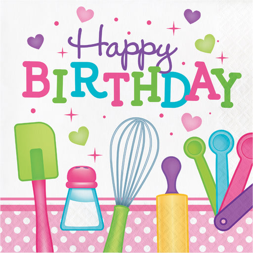 Little Chef Happy Birthday Luncheon Napkin, Case of 192