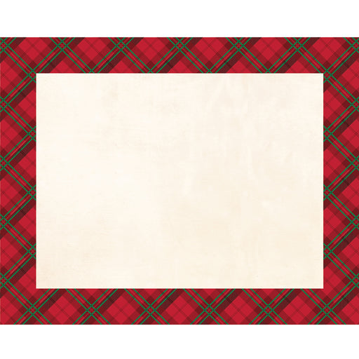 "Holiday Plaid 12"" x 15"" Placemat"
