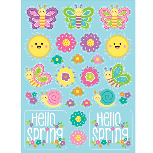 "Hello Spring 4 1/2"" x 6"" Stickers"