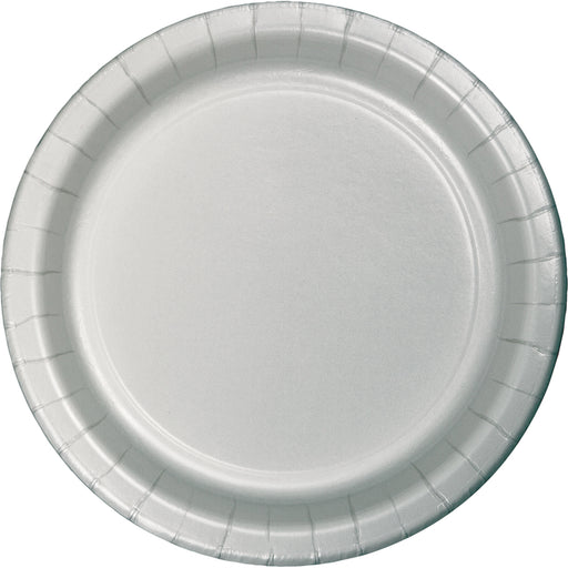 "Shimmering Silver 7"" Dia. Luncheon Plate"