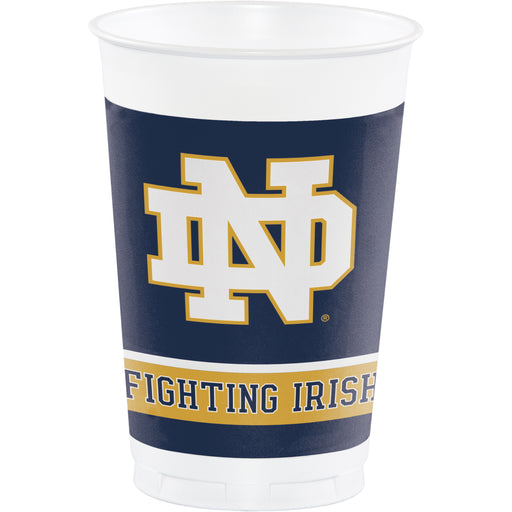University of Notre Dame 16 Oz. Plastic Cup, Case of 96