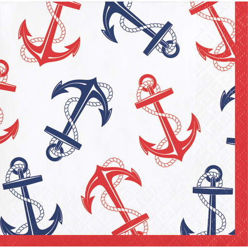 Nautical Anchor Beverage Napkins, Case of 192