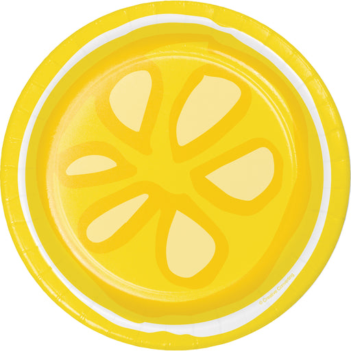 "Picnic Lemonade 7"" Dia. Luncheon Plates, Case of 96"