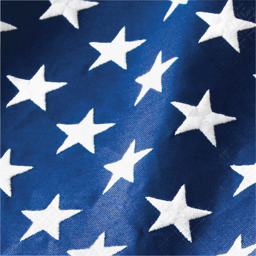 "Patriotic Flag ""Star"" Printed Luncheon Napkins, Case of 192"