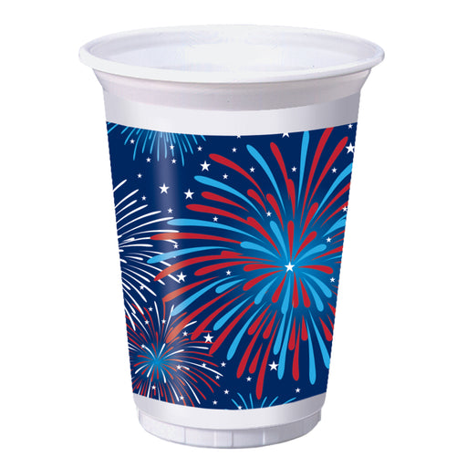 Patriotic Party 16oz. Plastic Cup, Case of 96