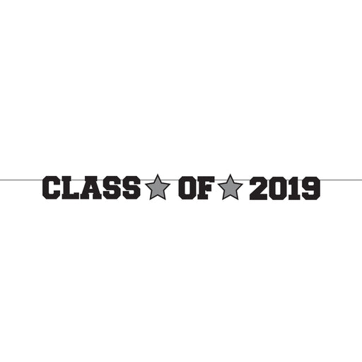 "Graduation Decor ""Class Of 2019"" Ribbon Banner, Case of 12"