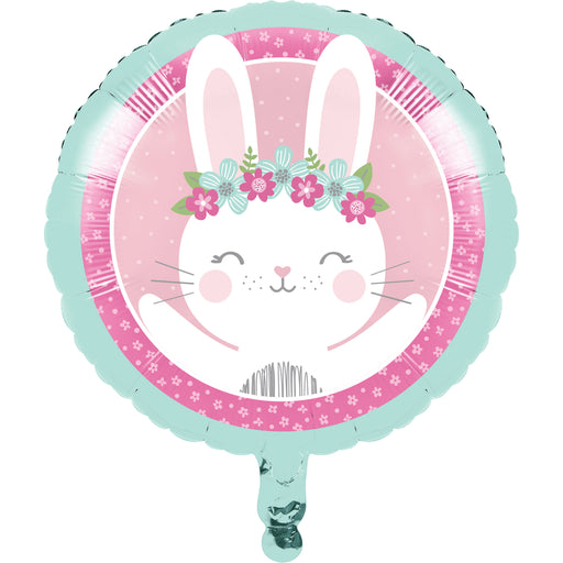 "1st Birthday Bunny 18"" Length Metallic Balloons, Case of 10"