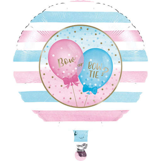 "Gender Reveal Balloons 18""Length ""Boys & Girls"" Printed Metallic Balloons, Case of 10"