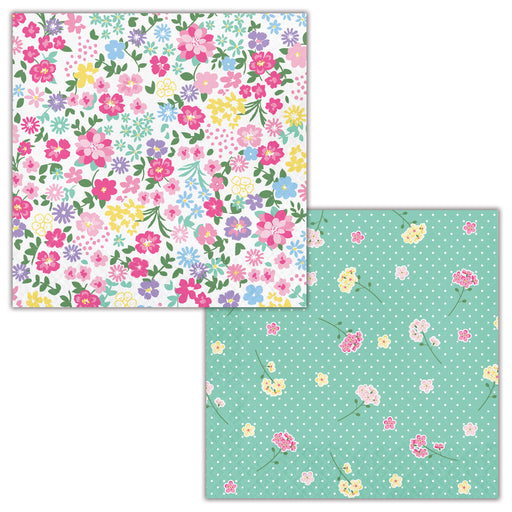 "Floral Tea Party 2 Ply 12 7/8"" x 12 7/8"" Luncheon Napkins"