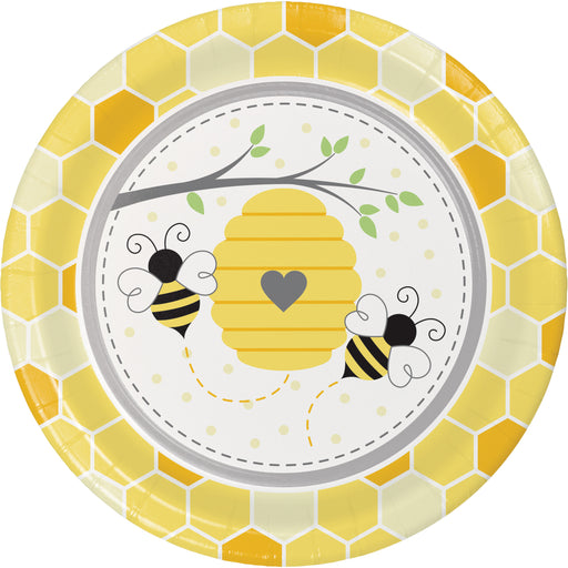 "Bumblebee Baby 8 7/8"" Dia. Paper Dinner Plates"