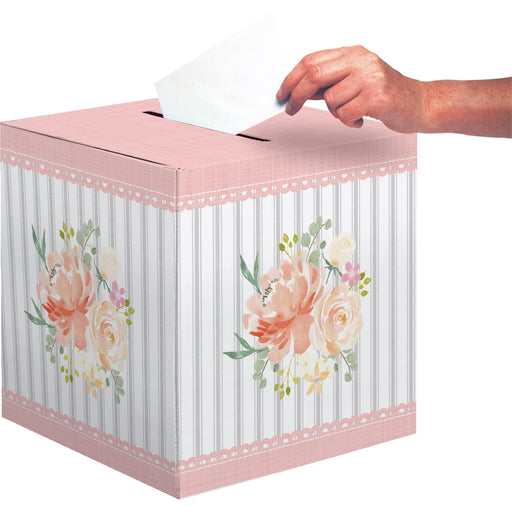 "Farmhouse Floral 12'""W x 12""L x 12""H Card Boxes"