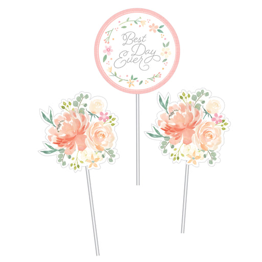 "Farmhouse Floral 9 1/2"", 10"" & 12"" Centerpiece Sticks"