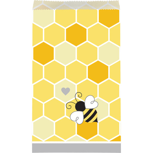 "Bumblebee Baby 4 1/2""W x 7 3/4""H Paper Treat Bags"