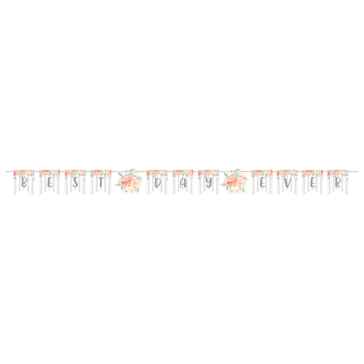 "Farmhouse Floral 96""W x 6""H Ribbon Banners"