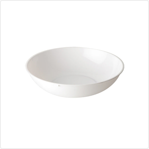 White 1 Gallon Plastic Classic Round Serving Bowls