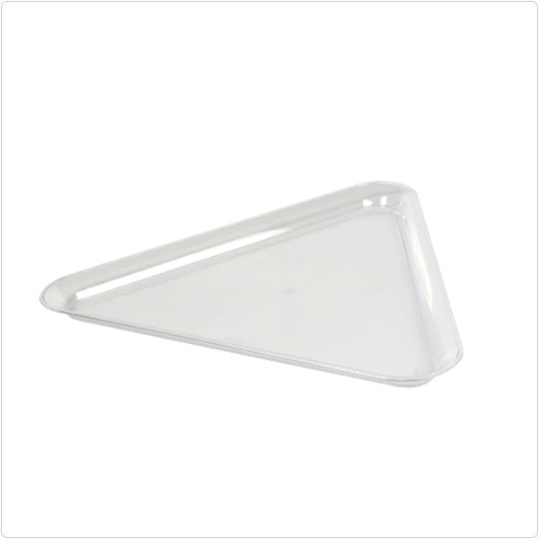 Clear 16 x 16 x 16 Plastic Triangle Trays