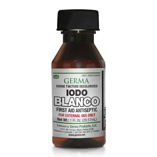 Germa Iodo Blanco Iodine Tincture Decolorized 1 Oz.