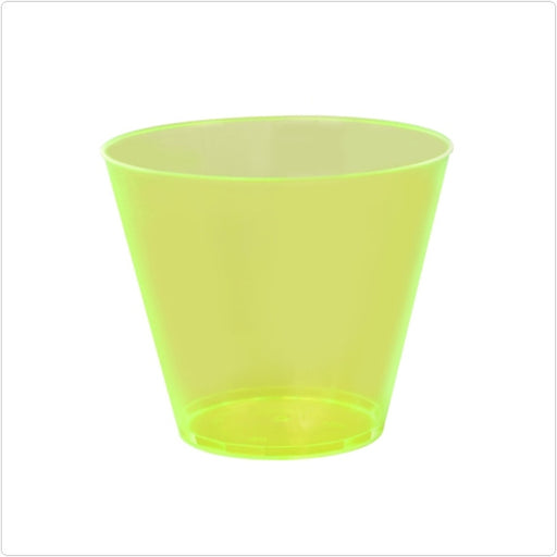 Yellow Savvi 9 oz Round Plastic Old Fashioned Tumblers/Case of 500