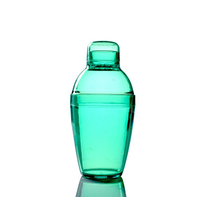 Green 7 oz Plastic Cocktail Shaker