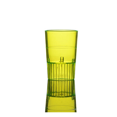 Yellow 1 1/2 oz Plastic Neon Shooters/Case of 500