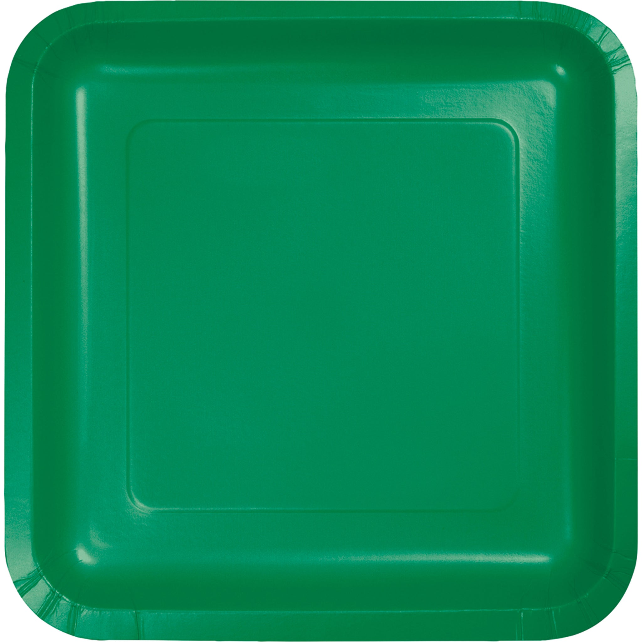 7 inch Square Paper Luncheon Plates Emerald Green