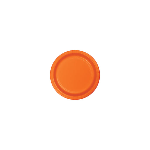 Sunkissed Orange 7 inch Luncheon Plate