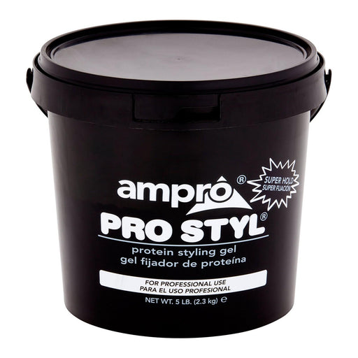 Ampro Pro Styl Super Hold Protein Styling Gel, 5 Lb, 80 Oz