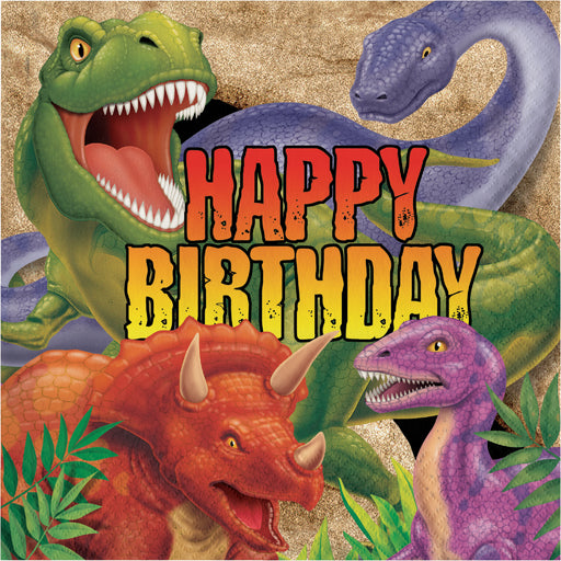 3 Ply Lunch Napkins Happy Birthday Dino Blast