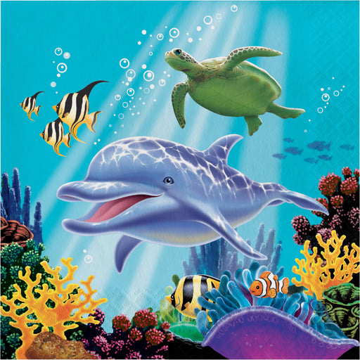 3 Ply Luncheon Napkins Ocean Party