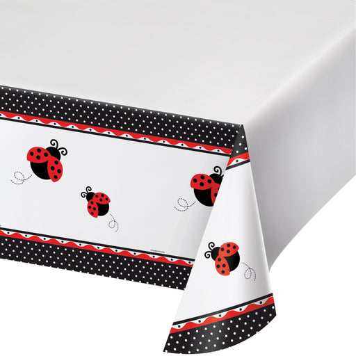Ladybug Fancy 54 x 108 Plastic Tablecover Border Print
