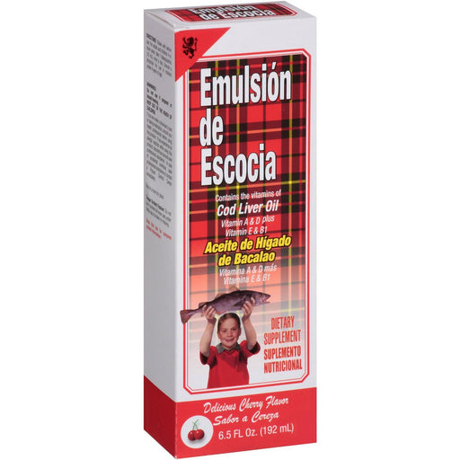 Emulsion De Escocia, Cherry, 6.5 Oz.
