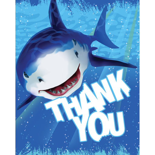 Foldover Thank You Cards Shark Splash
