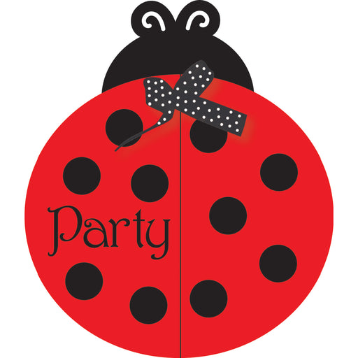 Ladybug Fancy Invitation Gatefold