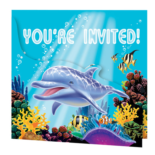 Ocean Party Invitation Gatefold