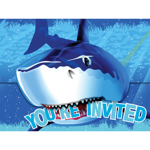 Shark Splash Invitation Gatefold