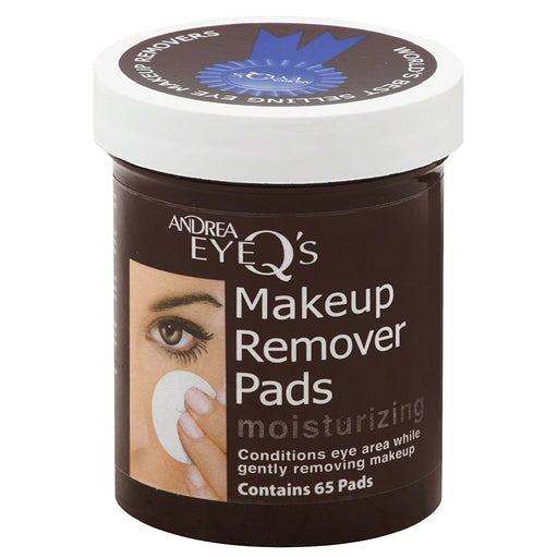 Andrea Eye Q's Moisturizing Makeup Remover Pads, 65 Pads