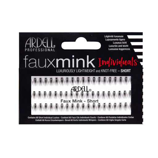 Ardell Professional Fauxmink Induviduals Lightweight And Knot Free, 60 Lahses, Short Black