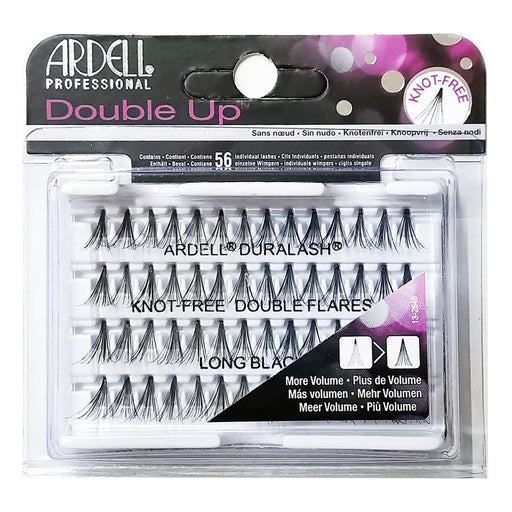 Ardell Professional Double Up Duralash Knot Free Double Flares, 56 Lashes, Long Black