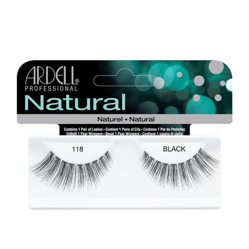 Ardell Professional Natural Lightweight Lashes, 118 Black
