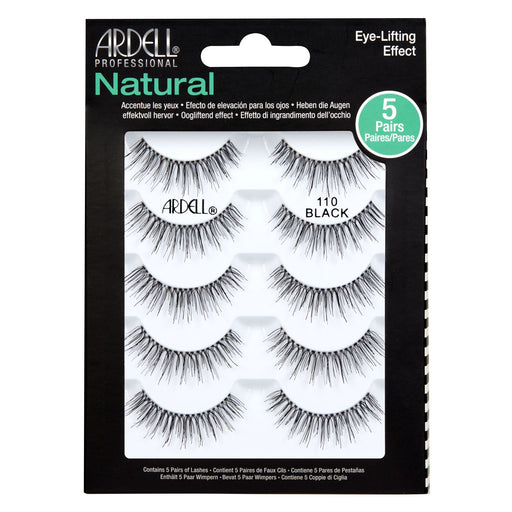 Ardell Professional Natural Eye Lifting Effect Lashes, 5 Pairs, 110 Black