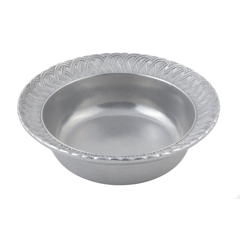 2 1/2 qt 12 inch Trellis Bowl Pewter Glo, Case Of 2