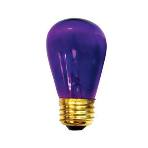 11W S14 Sign Transparent Purple E26 130V Indicator/Night Light, Case of 100