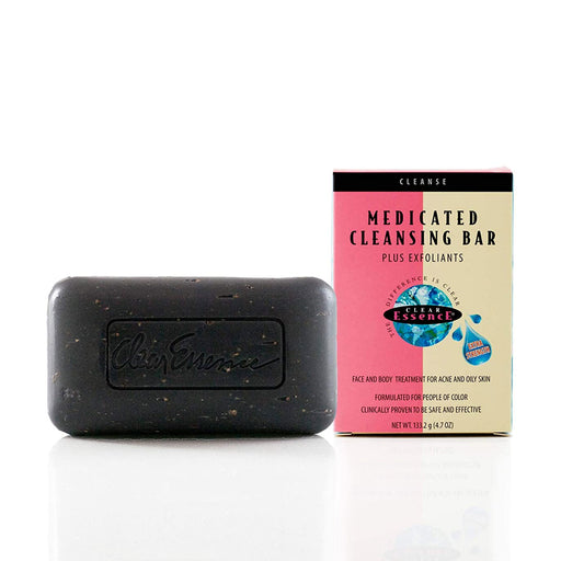Clear Essence Platinum Extra Strength Medicated Cleansing Black Bar plus Exfoliants, 4.7 Oz.