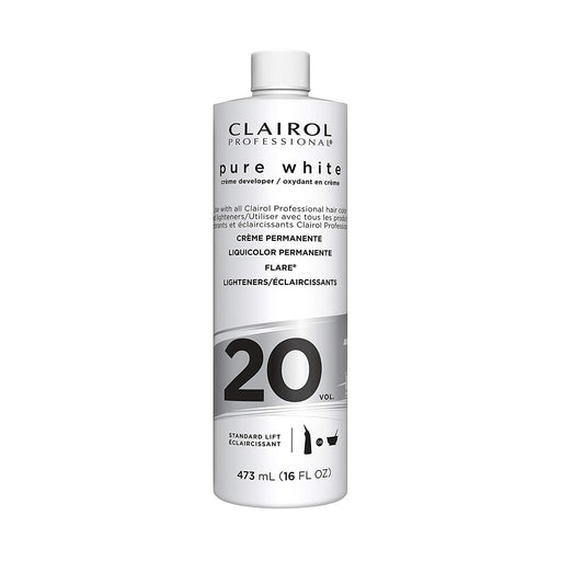 Clairol Professional Pure White 20 Volume Creme Developer, 16  Oz.